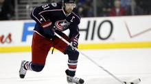 Rick Nash, 27, has been on the block since last February, when he told Columbus Blue Jackets general manager Scott Howson he wanted out. (Terry Gilliam/Associated Press)