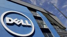 In this Aug. 21, 2012, photo, the sun is reflected in the exterior of Dell Inc.'s offices in Santa Clara, Calif. (Paul Sakuma/The Associated Press)