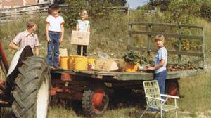 To raise spending money, David McLoughlin and his sister Karen would sell vegetables in the summer at the family's hobby farm near Collingwood, Ont.
