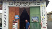 "One of the ""must-stops"" is the Cowboy Bar in Gansu. (Prostate Cancer Canada)"
