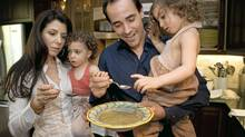 It's an easy, breezy life for David and Nina Rocco, and their twin daughters Giorgia, right, and Emma. (Kevin Van Paassen/Kevin Van Paassen/The Globe and Mail)