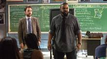 Charlie Day as Andy Campbell and Ice Cube as Strickland in the New Line Cinema and Village Roadshow Pictures comedy Fist Fight. (Bob Mahoney/Bob Mahoney)
