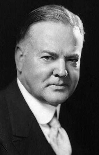 U.S. president Herbert Hoover.