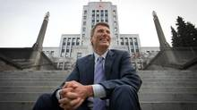 Vancouver Mayor Gregor Robertson sits for a photograph outside City Hall in Vancouver, B.C., on Tuesday January 21, 2014. (DARRYL DYCK For The Globe and Mail)