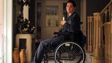 Dean Wardak, shown at his home in Mississauga, Ont., was paralyzed after driving into a tree while imtoxicated. (J.P. Moczulski for The Globe and Mail)