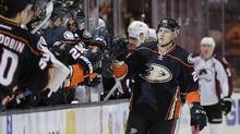 Anaheim Ducks forward Shawn Horcoff was suspended 20 games for violating the terms of the NHL's performance enhancing substances program. (Jae C. Hong/THE ASSOCIATED PRESS)