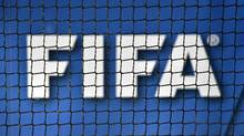 The logo of FIFA as seen at the governing body's headquarters in Zurich. (Fabrice Coffrini/AFP/Getty Images)