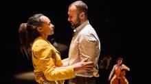 Cara Ricketts and Graham Cuthbertson on stage in Constellations. (Cylla von Tiedemann)