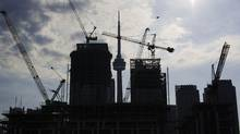 Condominiums are seen under construction in Toronto, July 10, 2011. 2011. (MARK BLINCH/MARK BLINCH/REUTERS)