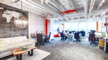 Perimeter Development Inc. recently gave 305 King St., located in the heart of downtown Kitchener's Innovation District, a complete makeover. The idea was to rethink an older space to attract a new generation of tenants. (Langen Studios Inc.)