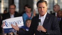 U.S. Republican presidential candidate and former Governor of Massachusetts Mitt Romney speaks during a campaign event in Wilmington, Delaware April 10, 2012. (TIM SHAFFER)