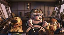 Left to right: Dug, Carl and Russell. (©Disney/Pixar. All Rights Reserved.)