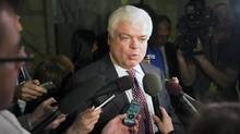 New Democratic Party MPP Peter Tabuns answers questions from the media following the announcement that additional documents were uncovered by the OPA related to the controversial cancellation of gas plants in Toronto on Thursday, February 21, 2013. (Michelle Siu/THE CANADIAN PRESS)