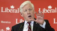 Interim Liberal Leader Bob Rae delivers a speech to his caucus in Ottawa on April 4, 2012. (Adrian Wyld/Adrian Wyld/The Canadian Press)
