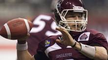 Former McMaster University quarterback Kyle Quinlan has been offered a CFL contract according to a report by The Canadian Press. FILE PHOTO: THE CANADIAN PRESS/Jonathan Hayward (Jonathan Hayward/CP)