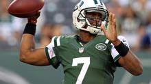 Jets quarterback Geno Smith is taking 75 per cent of the first-team snaps during training camp. (Adam Hunger/USA Today Sports)