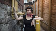 Emily Schultz, seen in Toronto on Monday, says her latest novel, Men Walking on Water, is a departure from the 'surreal' nature of her previous books, but is still playful, if historical. (Fred Lum/The Globe and Mail)