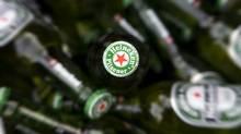 A photo taken on January 24, 2009 shows Heineken beer bottles in Haarlem, outside Amsterdam. (KOEN SUYK/KOEN SUYK/AFP/Getty Images)