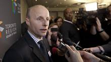 'Now's the time for us to bite the bullet and go banging on the table in Ottawa and at Queen's Park,' Toronto Transit Commission chief executive officer Andy Byford said after a speech at the Toronto Region Board of Trade in Toronto on Jan. 9, 2013. (Deborah Baic/The Globe and Mail)
