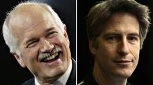 Jack Layton (L) and actor Rick Roberts (The Canadian Press/ Andrew Vaughan and Fernando Morales/The Globe and Mail)