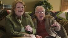 Janet Wright, left, with Eric Peterson in a scene from Corner Gas.