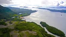 Aerial shot of Sarita Bay from Steelhead LNG Corp. (Steelhead LNG/Handout)