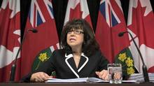 Bonnie Lysyk, Ontario's auditor general, speaks about her 2015 annual report during a press conference at Queen's Park in Toronto on Wednesday, December 2, 2015. (Darren Calabrese/THE CANADIAN PRESS)