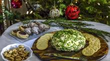 Sue Riedl's holiday Cheddar Cheese Ball. (Tad Seaborn for The Globe and Mail)