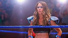 Amanda Crew is miscast as Sheena DeWilde, a local-gal-done-good wrestler and reality-television star whose temper has caused a downturn in her career. (A71 Entertainment)