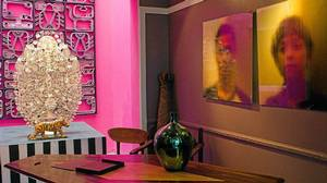 Eclectic artwork and furniture for sale at the interior design store, Chic by Accident.