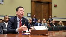 FBI Director James Comey testifies before a House Judiciary Committee hearing on Capitol Hill in Washington on Sept. 28, 2016. (JOSHUA ROBERTS/REUTERS)