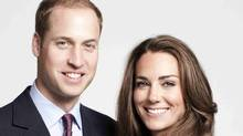 Britain's Prince William, Duke of Cambridge and Catherine, Duchess of Cambridge pose for the official tour portrait for their trip to Canada and California. (HO/St James's Palace)