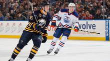 Buffalo Sabres rookie Jack Eichel, the No. 2 draft pick last June, faced the No. 1 pick, Edmonton Oilers' Connor McDavid, in Buffalo this week. McDavid scored two goals, including the overtime winner. (Jen Fuller/Getty Images)