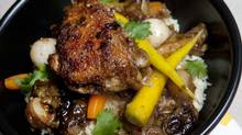 North African spiced chicken with baby carrots, baby turnips over couscous (Deborah Baic/The Globe and Mail)