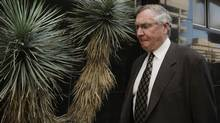 Phoenix Coyotes owner Jerry Moyes and the NHL will meet again with a bankruptcy court judge Wednesday with a decision on who will control the team while it awaits being sold. (Ross D. Franklin)