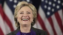 In this Nov. 9, 2016 file photo, Democratic presidential candidate Hillary Clinton speaks in New York. (Matt Rourke/AP)