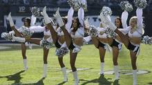 Oakland Raiders cheerleaders perform (Ben Margot/Associated Press)