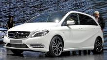 The next-generation B-Class was unveiled at the Frankfurt auto show. (Michael Bettencourt for The Globe and Mail)