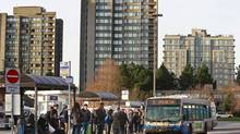 The city and UBC are urging B.C. to provide Translink funding for a Broadway rapid-transit line to develop research growth. (Jeff Vinnick For The Globe and Mail)