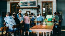 Customers line the bar at the popular Hill Farmstead Brewery in Greensboro Bend, Vt. (Zero Gravity Beer)