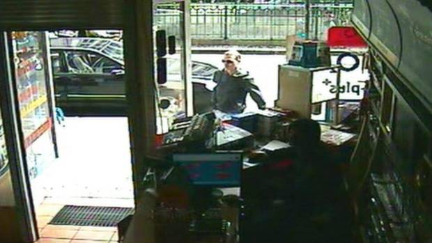 """This image, taken from CCTV obtained by Associated Press video, shows Luka Rocco Magnotta approaching the Internet café in the district of Neukoelln in Berlin, Germany, Monday June 4, 2012, where Kadir Anlayisli, who works in the café recognized him. """"I looked at him and thought I knew him from somewhere, because I read newspapers every day,"""" Mr. Anlayisli said. (AP)"""