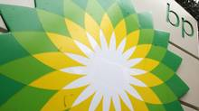 In this file photo made Oct. 25, 2007, the BP logo is seen at a gas station in Washington. (Charles Dharapak/AP)