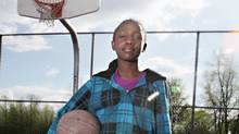 Eve Uwayesu who is a gifted basketball player in Grade 5 had her request to play for the junior boys team at her Ottawa school denied by the Ottawa-Carleton District School Board. Photos by Brigitte Bouvier for The Globe and Mail. (Brigitte Bouvier/Brigitte Bouvier)