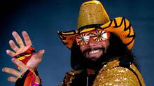 "In this undated publicity image released by WWE, professional wrestler Randy ""Macho Man"" Savage is shown. Savage, whose legal name is Randy Mario Poffo, died in a car crash in Florida on Friday, May 20, 2011. (AP)"
