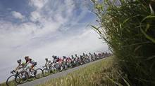 The pack passes during the second stage of the Tour de France (Laurent Cipriani/AP)
