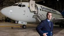 Matt Bradley, VP of business development at FLYHT Aerospace Solutions Ltd. is photographed in Calgary in 2009. (Chris Bolin For The Globe and Mail)