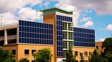 Solar panels on one of Sunnybrook's parking garages (Supplied)