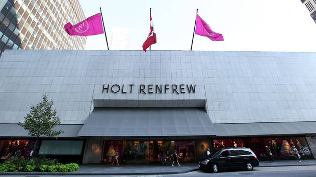 To mark Holt Renfrew's 175th anniversary, CEO Mark Derbyshire threw a birthday bash outside the Toronto flagship store on Sept. 6. The luxury retailer also put its birthday numbers on its signature hot pink shopping bags and other marketing materials. (Deborah Baic/The Globe and Mail)
