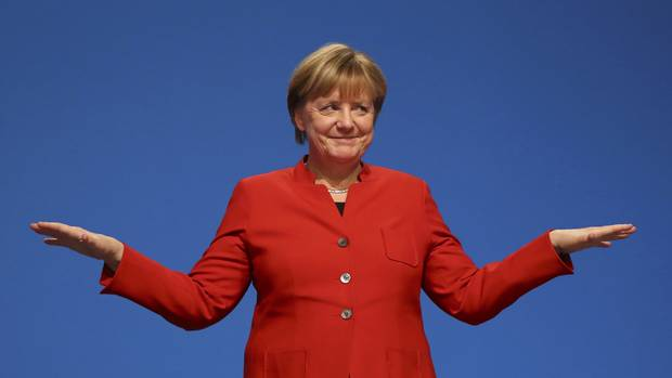 Nine months before an expected September election, Ms. Merkel has a wide lead in the polls as she pursues a fourth term.