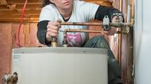 After facing difficulties getting jobs as a female plumber, Tammy Buchanan launched her own business, Small Jobs Plumbing, in Halifax. Now she feels her biggest challenge is finding other qualified female plumbers to join her. (Scott Munn for The Globe and Mail)